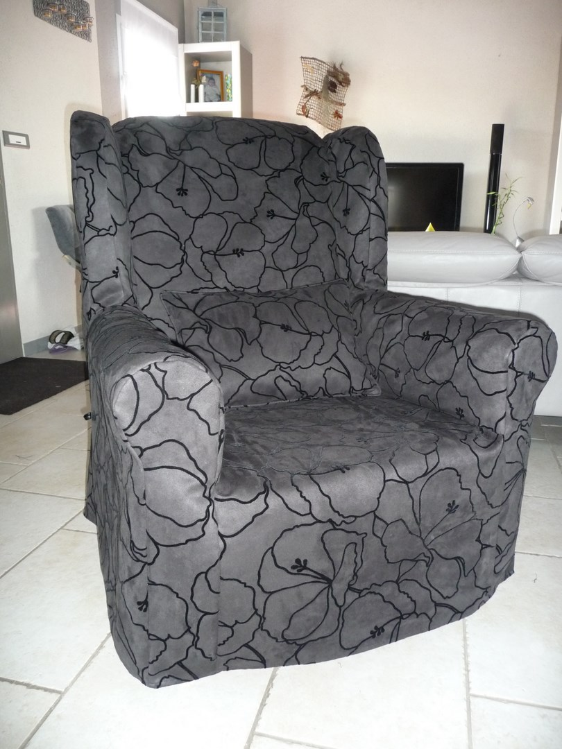 housse de fauteuil oreilles au fil des id es. Black Bedroom Furniture Sets. Home Design Ideas
